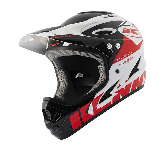 BMX Down Hill Helmet White Red 2021