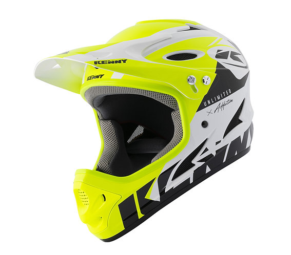 Kenny Down Hill Helmet White Neon Yellow 2021