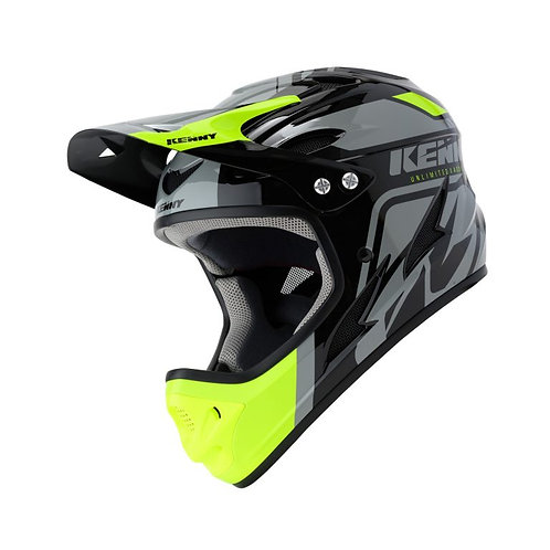 Helmet Downhill Black Neon Yellow