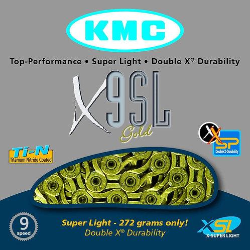 KMC X9SL Super Light 3/32 Gold