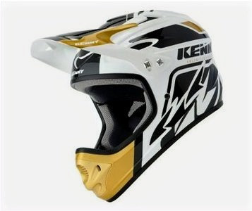 Helmet Downhill White Gold