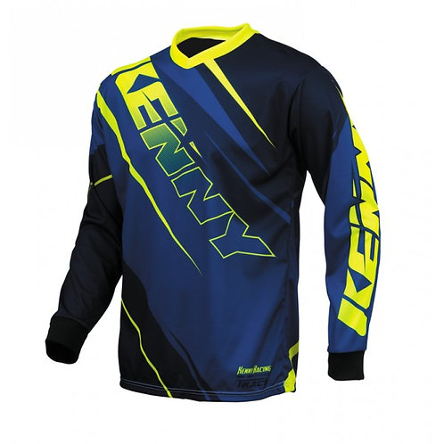 Kenny Track Jersey Blue & Yellow Fluo