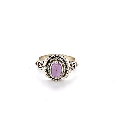 Detailed Amethyst Dress Ring