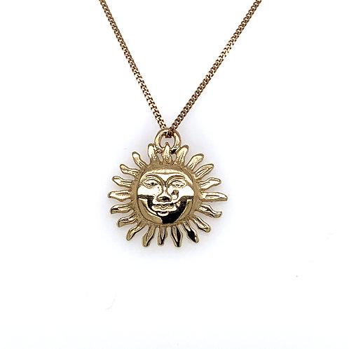 Rising Sun 9ct Yellow Solid Gold Pendant