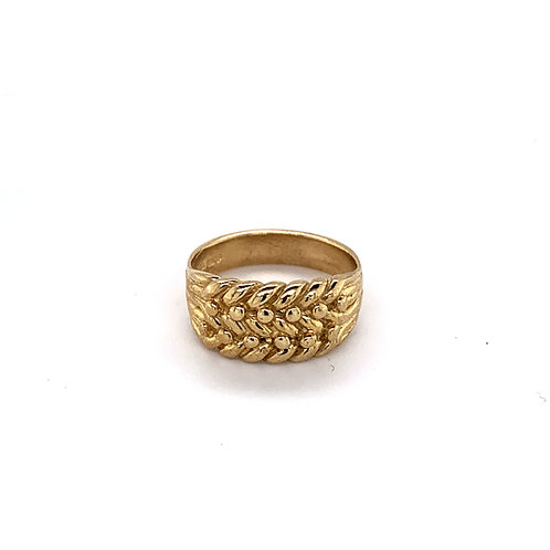 Mens 9ct Gold Keeper Ring