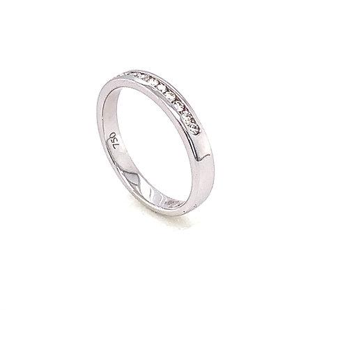 Channel Set 9 Stone Diamond Ring