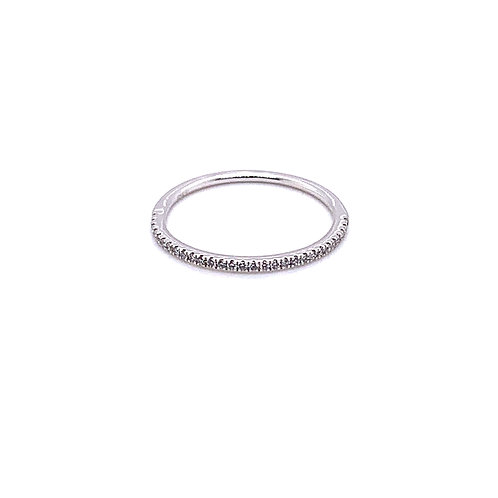 18ct White Gold Half Eternity Ring