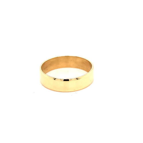 Men's Flat Medium Weight Wedding Ring