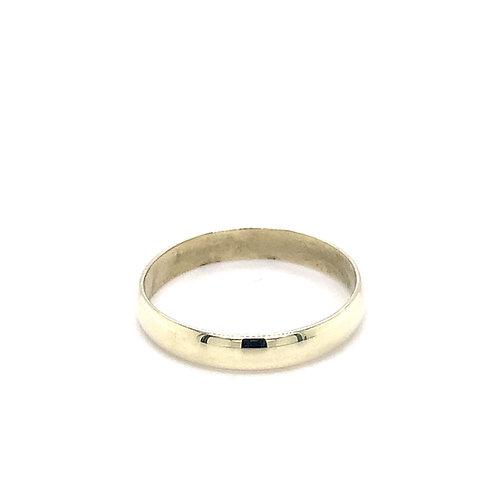 Ladies D Shape Medium Weight Wedding Ring