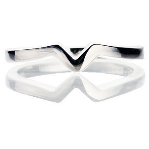 V Shaped to fit Wedding Ring