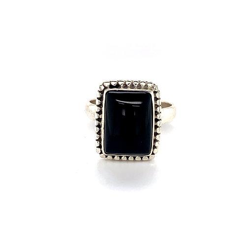 Onyx Rectangular Dress Ring