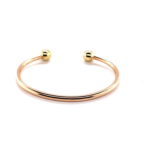 Rose and Yellow Gold and Torque Bangle