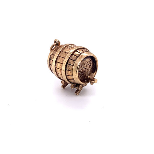 Wine Cask Charm in 9K Gold