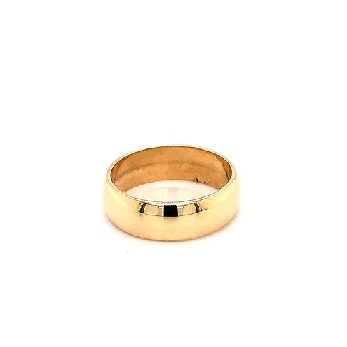 Ladies D Shape Light Weight Wedding Ring