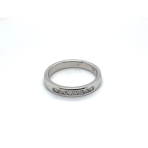 Channel Set Diamond Wedding Ring (medium weight)