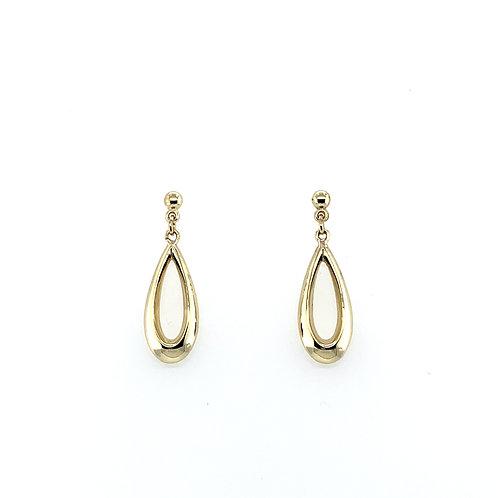 Teardrop Yellow Gold Earrings