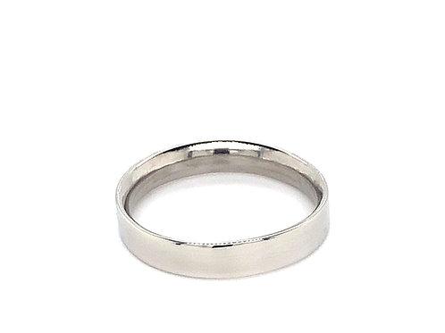 Ladies Flat Court Heavy Weight Wedding Ring