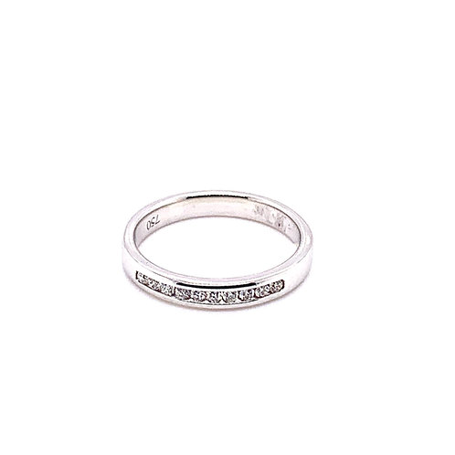 Channel Set Diamond Wedding Ring (light weight)