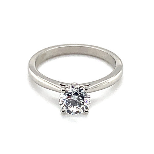 Diamond Solitaire Engagement Ring in a Classic Setting in 9ct Gold