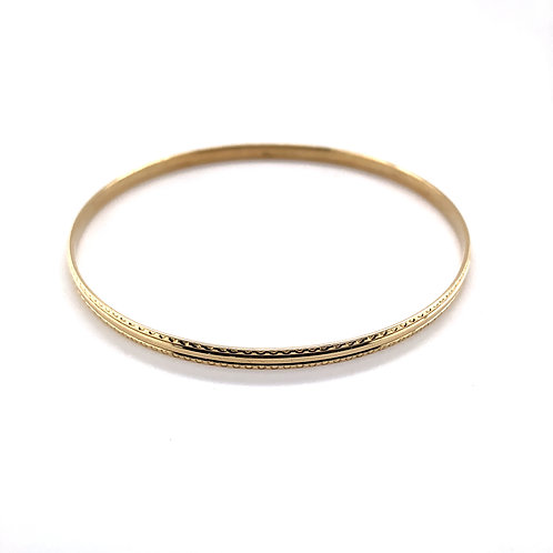 9ct Yellow Solid Gold Bangle