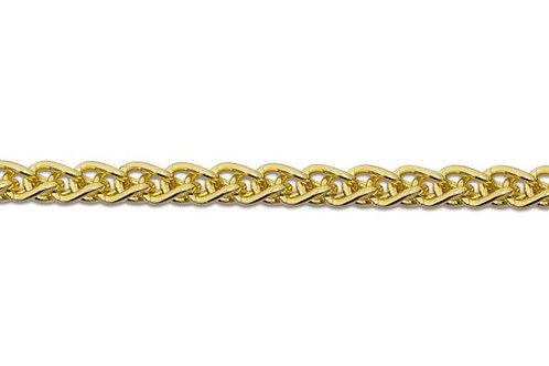 9ct Yellow Gold Spiga Chain