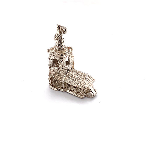 Traditional Church Silver Charm