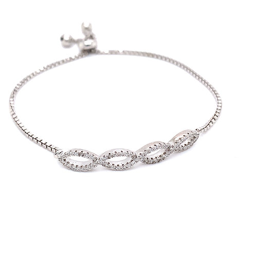 Four Oval Tennis Bracelet