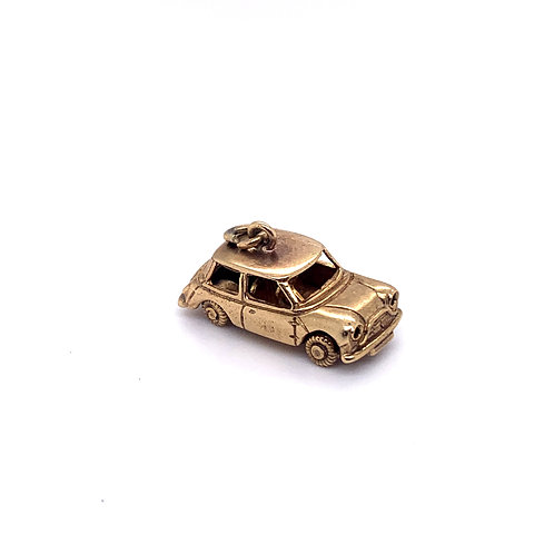 Mini Cooper Charm in 9K Gold