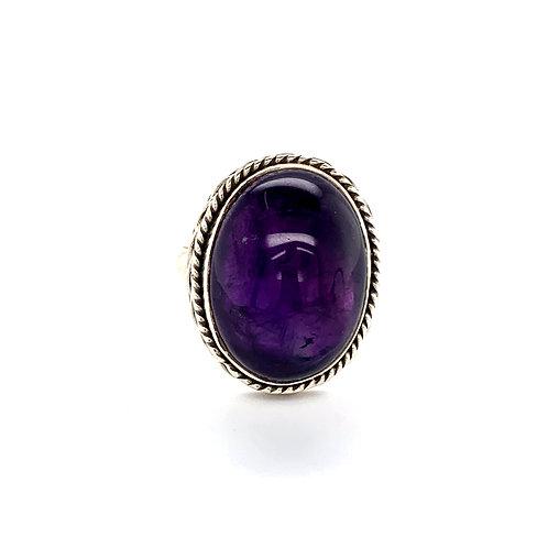 Oval Amethyst Dress Ring