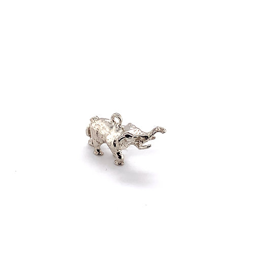 Baby Elephant Silver Charm