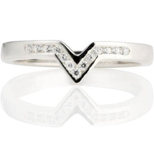 V Shaped to fit Diamond Wedding Ring