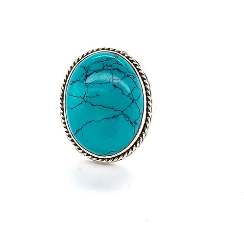 Oval Turquoise Dress Ring