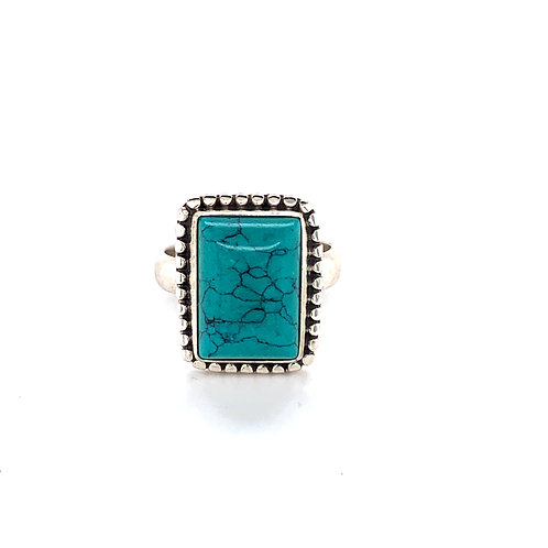 Turquoise Rectangular Dress Ring