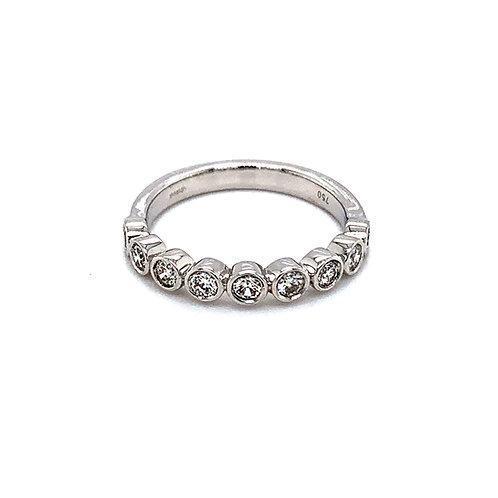 18ct White Gold Bubble Diamond Ring (medium weight)
