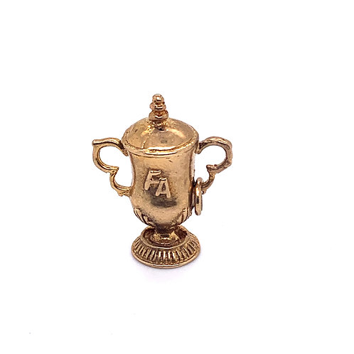FA Cup Winners Trophy Charm in 9K Gold