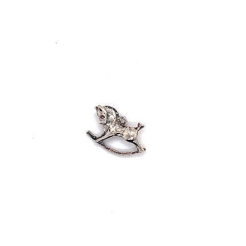 Rocking Horse Silver Charm