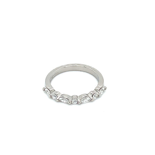Marquise and Round Cut Diamond Ring