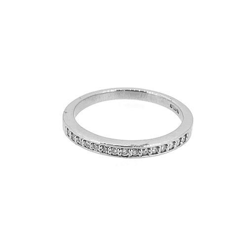 Channel and Grain Set Diamond Half Eternity Ring