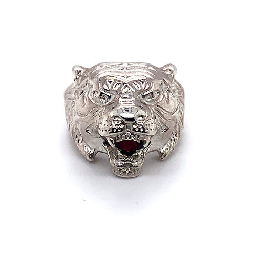 Tiger King Ring with Ruby