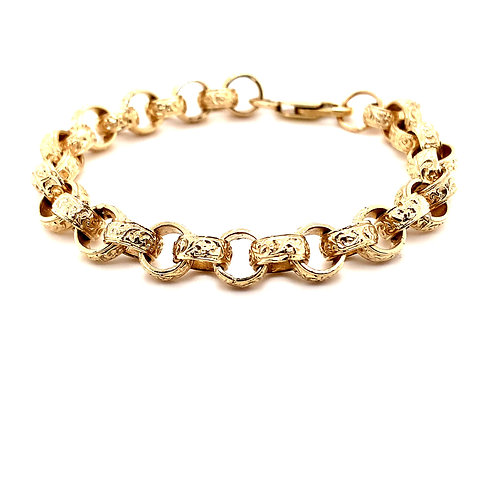 Roller Ball Patterned Belcher Bracelet