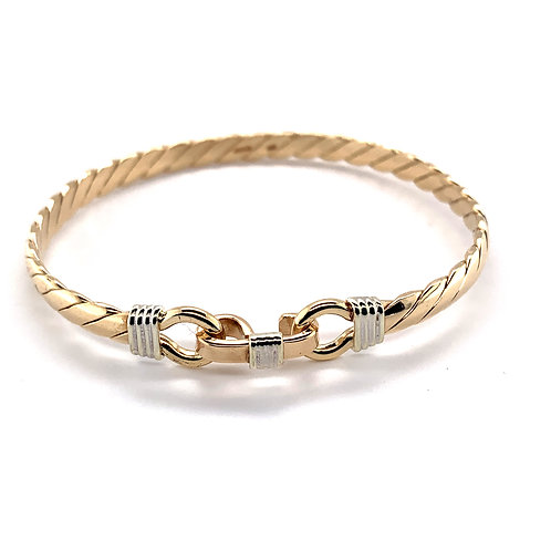 9K Yellow Gold Twist Bangle
