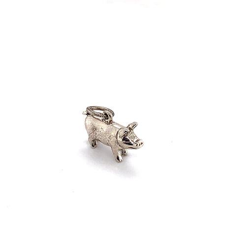 Piglet Silver Charm