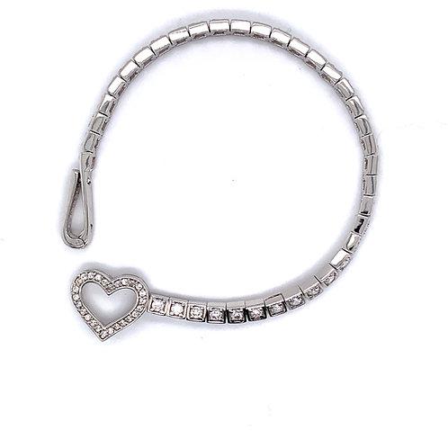 Heart Clasp Tennis Bracelet