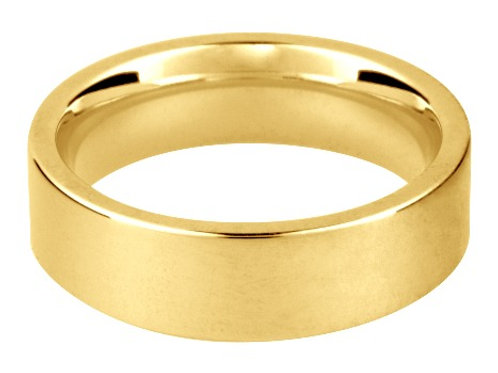 Flat Court Comfort Fit Wedding Ring (example)