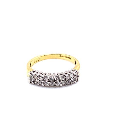 Double Row Diamond Half Eternity Ring