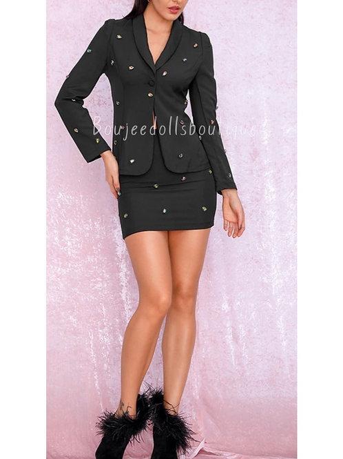 Blackberry Skirt Set (ready to ship)