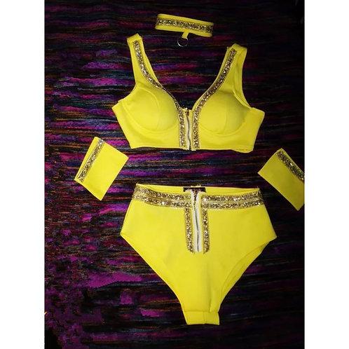 Sunflower Swimsuit (custom piece)