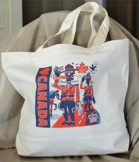 """Canada Collection - Classic 100% Cotton Tote Bag -  Deluxe Size 19"""" x 15"""" x 6"""""""