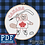 Thumbnail: Hand Embroidery Pattern - Personalised ADD-ON for Hockey Beaver - PDF Pattern