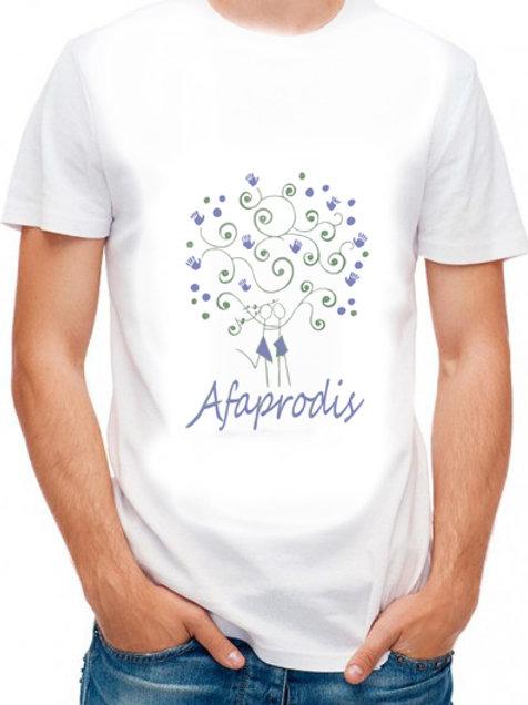 Camiseta unisex blanca con logo Afaprodis